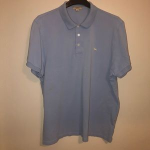 Burberry London polo shirt, tag size XP, sml stain